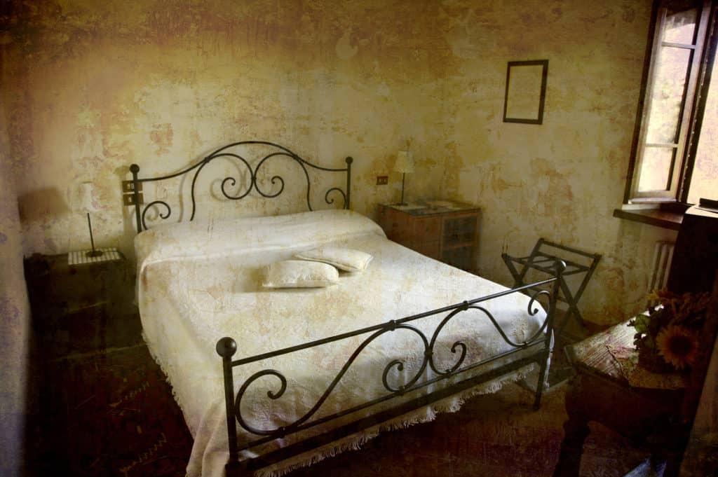 Tiny hotel room Italy