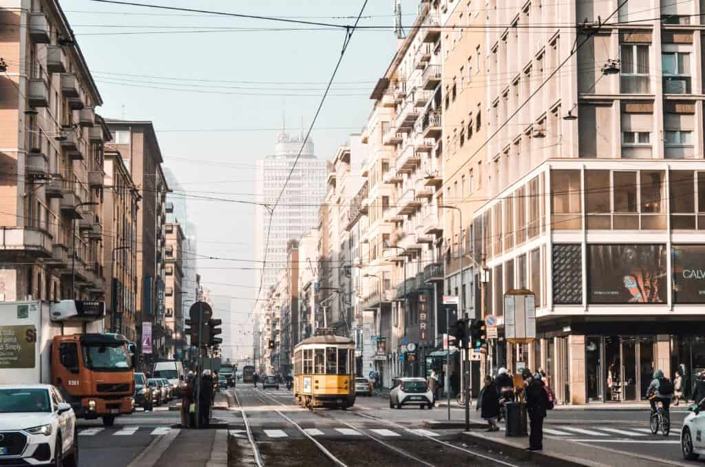 Trams in Milan