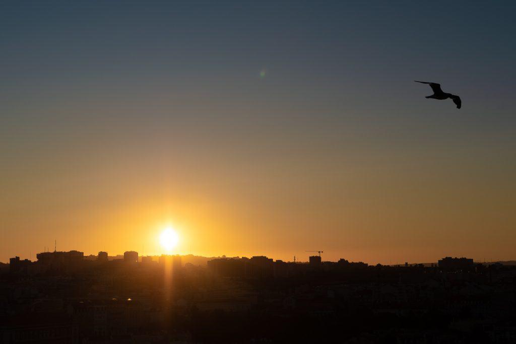 Sunset view at the Miradouro da Senhora do Monte