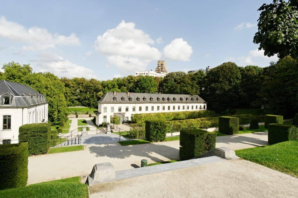 Park in Abbey de la Cambre in Brussels