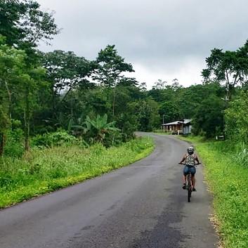 biking alone