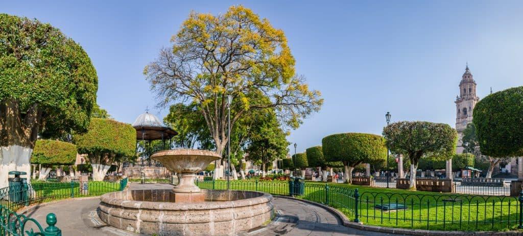 Plaza de Armas in Morelia
